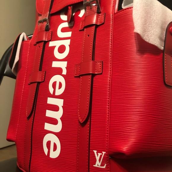7a9001aae31 Louis Vuitton x Supreme Backpack NWT